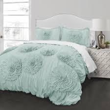 aqua ruffle comforter aqua ruffled comforter set bedding shabby floral chic romantic