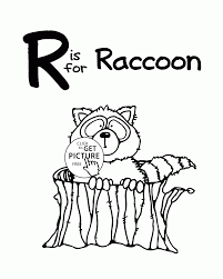 letter r alphabet coloring pages for kids letter r words