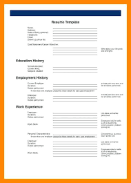 printable resume template free printable blank resume restama info