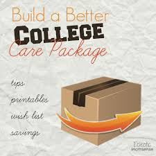 get better care package build a better college care package with wish list