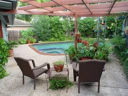 Patio Plus Outdoor Furniture Luxury Concept Of Beautiful Backyard With Swimming Pool Also