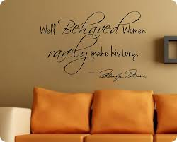 marilyn monroe wall decal decor quote well behaved women large