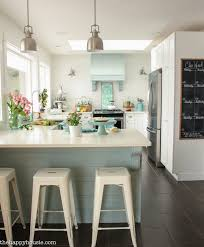 Kitchen Shelves Instead Of Cabinets Coastal Cottage Style Spring Kitchen Tour The Happy Housie