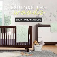 Babyletto Modo 3 In 1 Convertible Crib by Bedroom Bedding By Babyletto On Wooden Floor Plus Grey Carpet For