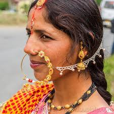 hindu nose ring woman with large nose ring piercing jewelry india