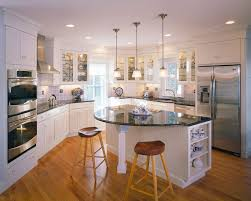 rounded kitchen island kitchen islands kitchen traditional with accent lighting