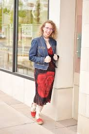 adding your denim jean jacket to a dress for women over 50