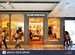 club monaco outlet club monaco luxury shop in ifc mall hong kong stock photo