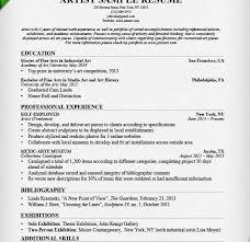 sample artist resume art resume skills sample artist resume