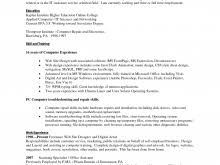 Computer Skills List Resume Templates Powerpoint 2010 Free Resume