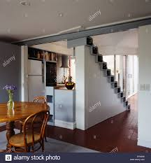open plan kitchen and staircase in golan house israel middle