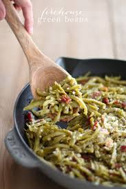 green beans with bacon parmesan