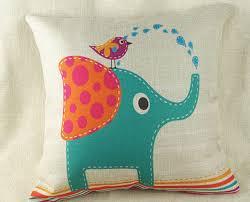 cuscino massaggiatore astratto uccelli acquatici simpatico elefante tema cuscino emoji