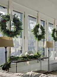 window wreaths cornucopias and christmas i it all so is now a