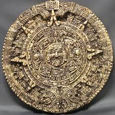 aztec calendar brown u0026 gold 7 inch circumference