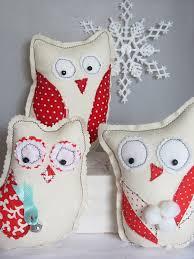 easy diy folk art winter owl christmas gifts sewing pattern pdf
