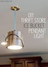diy light pendant diy thrift store pendant light