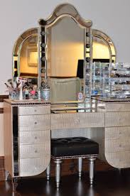 lighted makeup vanity sets furniture white painted hardwood make up table with makeup mirror