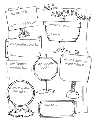 Free Printable Worksheets For Preschool Teachers All About Me Free Workshet U2026 Pinteres U2026