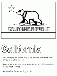 the elegant and interesting california flag coloring page