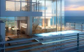 home architecture glass house miami beach residences plans glass