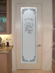 beautiful single door pantry with patterned steel mixed marble