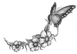 floral butterfly image
