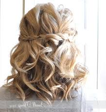 wedding hair half up half down short hair 1264 x 1342 half up half
