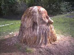 awesome tree stump carving