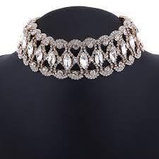 chunky crystal necklace jewelry images Luxury full diamond crystal rhinestone chunky choker collar jpg