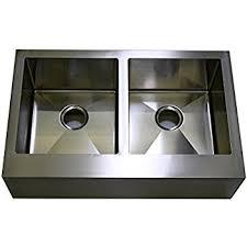 Inch Stainless Steel Flat Front Farmhouse Apron Kitchen Sink - Farmhouse double bowl kitchen sink