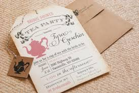 tea party bridal shower invitations photo mad hatter tea party bridal image