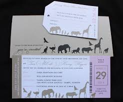 ticket wedding invitations pink animals zoo ticket wedding invitations emdotzee designs