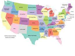 Map Of States In Usa by Political Map Of United States America Throughout Of