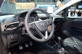 vauxhall corsa inside 2015 opel corsa 5 door interior at the paris motor show 2014