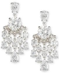 Ralph Lauren Chandelier Fashion Earrings Carolee Silver Tone Crystal Chandelier Earrings Fashion Jewelry