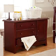 cherry changing table dresser combo furniture charming bedroom decoration using cream bedroom wall