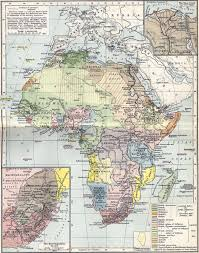 Africa Time Zone Map by Kenya Colony