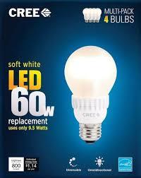 Led Light Bulbs 2700k by Cree 60w Equivalent Soft White 2700k A19 Led Light Bulb Sale 01