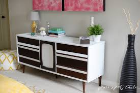 Painted Mid Century Furniture by Mid Century Modern Dresser Makeover Place Of My Taste