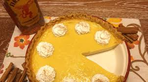 spice up your thanksgiving table with fireball eggnog custard pie