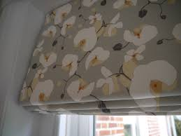 Shabby Chic Kitchen Blinds Interlined Roman Blind Hand Made By Victoria Clark Interiors