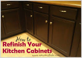 how to refinish kitchen cabinets makeover u0026 tutorial a mom u0027s take