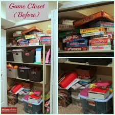 Organizing A Closet by How To Organize Board Games Momadvice