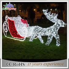 outdoor reindeer and sleigh lights 45389 astonbkk