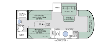 synergy class c motorhomes floor plans thor motor coach