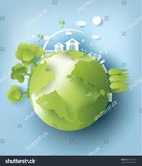 eco paper art design style tree stock vector 547704631 shutterstock