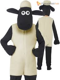 sheep costume childs shaun the sheep costume boy girl wallace and gromit fancy