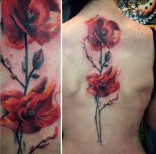 Big Flower Tattoos On - 36 stunning watercolor flower tattoos tattooblend