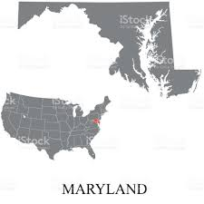 maryland map vector maryland map stock vector 683162580 istock